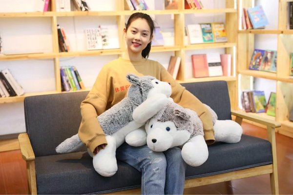 1pc 60cm 2018 New Arrival Classic Plush Toy Stuffed Animal Husky Dog High Quality Kawaii Popular Selling Gifts For Girl And Kid