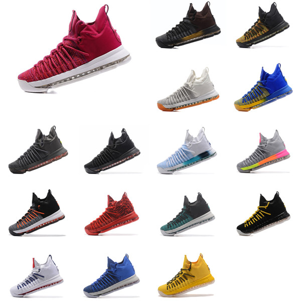 Cheap Mens KD 9.5 elite basketball shoes Black Red Multi Color Gold Ivory Blue White Kevin Durant KD9 IX sneakers boots tennis kds for sale