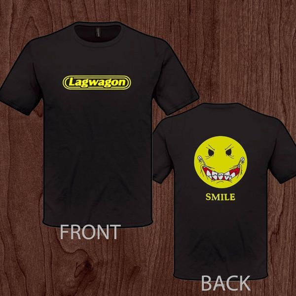 LAGWAGON Joey Cape banda de punk rock T-Shirt Solta camisa Preta Dos Homens T Homme Tees Verão O Pescoço Hipster Tops top tee