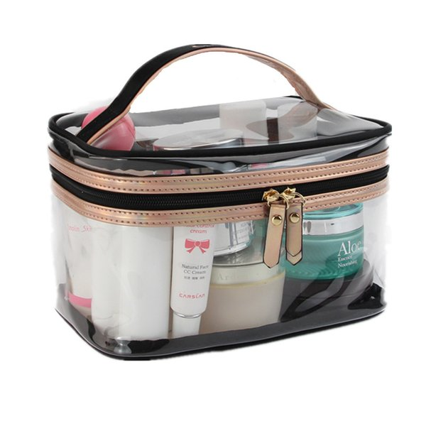 PVC Transparent Cosmetic Bags Women's travel Waterproof Clear Wash Organizer Pouch Beauty Makeup Case Accessories