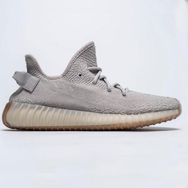 Più nuovo statico Refective Kanye West semi di gomma burro congelato suola di alta qualità Zebra Red Sesame Uomo Donna Sneakers scarpe sportive con scatola
