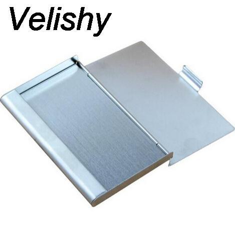 Velishy 2017 Nuova moda in acciaio inossidabile colore alluminio alluminio ID Holder Cover Case drop shipping