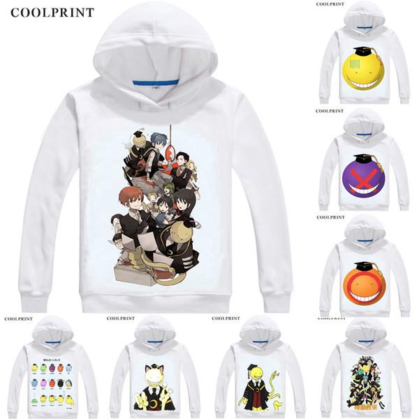 Assassination Classroom Ansatsu Kyoushitsu Hoodies Hooded Hoodie Anime Manga Korosensei Octopus Grim Reaper Demon King Cosplay Sweatshirts