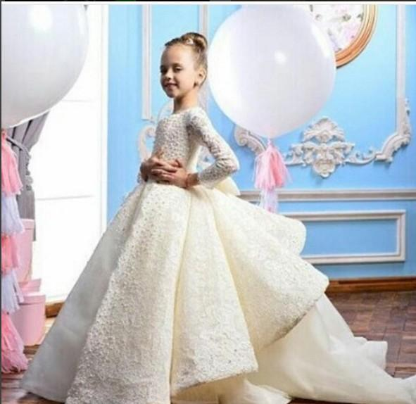 Evening Dress Long Dress Long Sleeve Lace Chiffon Jewel White Ball Gown Modern Classic All sizes can be customized
