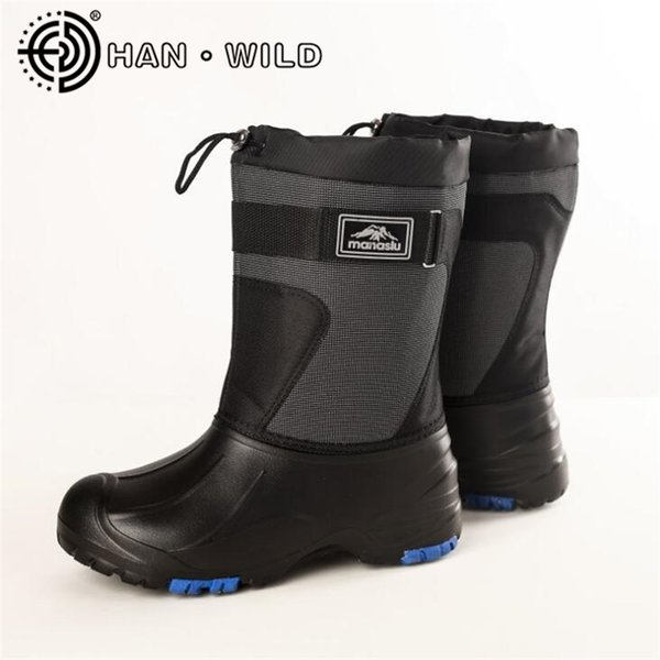 High Quality Men Winter Snow Boots Waterproof Rock Fishing Shoes Mens Steel Nail Non-slip Skiing Boots Male Keep Warm Shoes