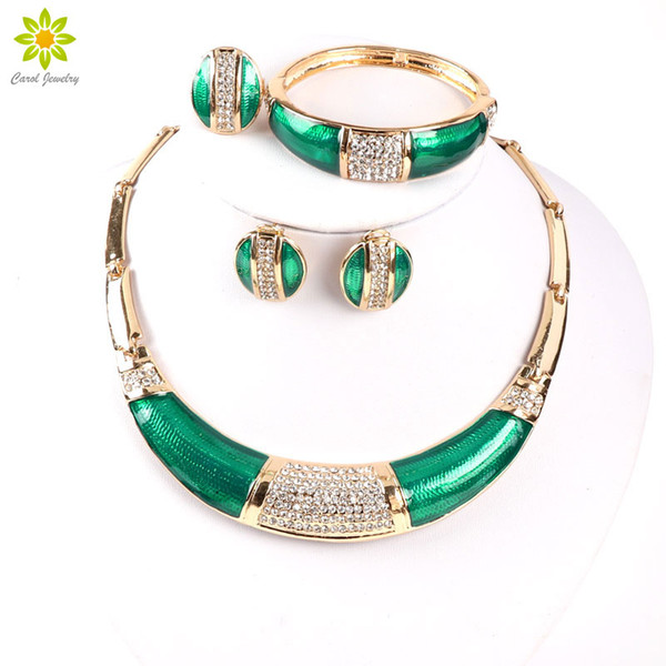nigeria wedding Africa Nigeria Wedding Beads Gold Color Jewelry Dubai Romantic Style Costume Jewelry Set