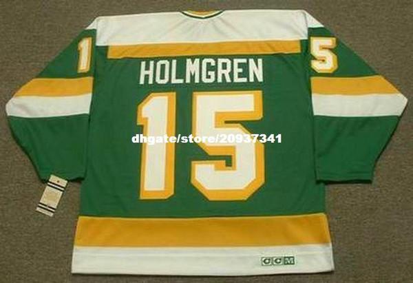 Venta al por mayor Mens PAUL HOLMGREN Minnesota North Stars 1984 CCM Vintage Retro Hockey Jersey