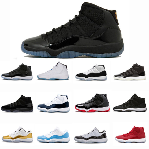 Wholesale 11 gamma blue Shoes 11s Mens Womens Basketball Sneaker Bred Concord Space Jam Prom Night Gym Red Midnight Navy Comfortable Shoes
