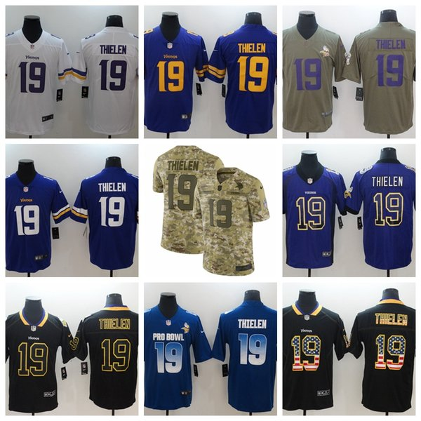 more photos 60566 8bf64 2019 New Mens 19 Adam Thielen Minnesota Jersey Vikings Football Jersey 100%  Stitched Embroidery Adam Thielen Color Rush Football Stitching Shirts From  ...