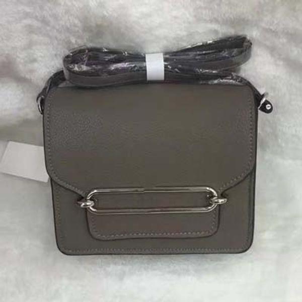 Fashion Women Rou-lis Bag Metal Buckle PU Leather Handbags Brand Designer Girls Luxury Shoulder Bags Brown Black Totes H1016 Online