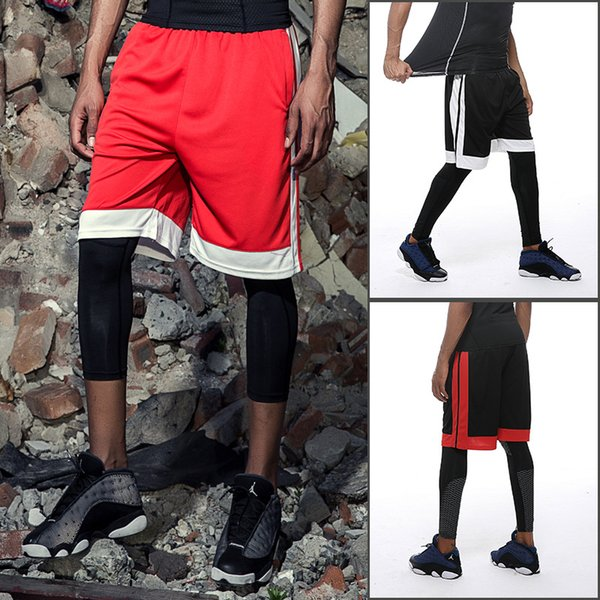 best selling 2018 Quick Drying Mens Basketball Shorts Gym Sports Patchwork Bodybuilding Cycling Running Shorts Fitness Short Pants
