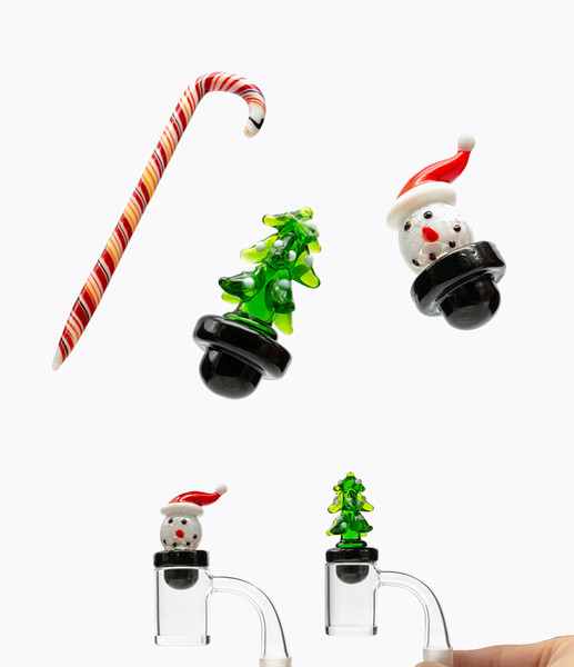 Christmas Bong dabber tool pencil style carb cap for glass oil rigs Dabbing Carving tool For E nails kit quartz banger Dab nail