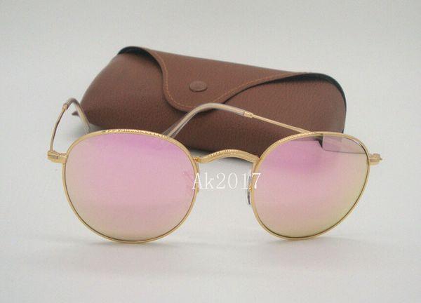 f18c18388e De alta calidad para hombre para mujer gafas de sol redondas gafas de  espejo de espejo