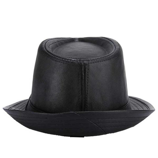 6ff9426247b64 2017 nuevo Sir Classic PU sombrero de cuero sombrero Hombres para restaurar  formas antiguas para mantener el calor caliente Moda de recuperación rápida