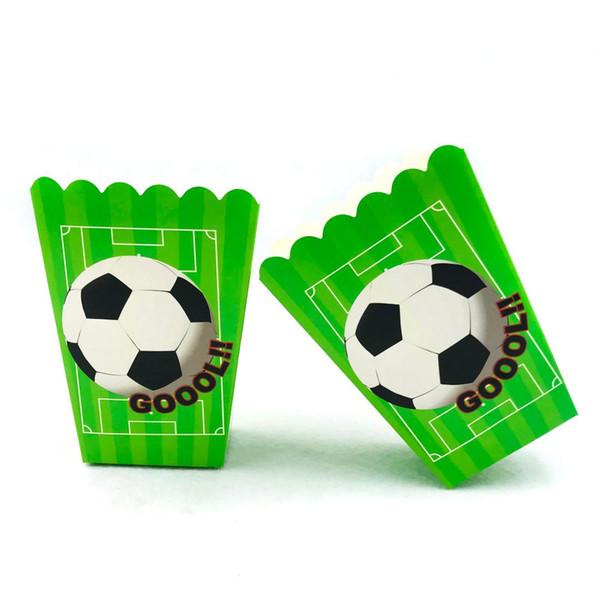 Grosshandel 6 Teile Satz Fussball Kinder Geburtstag Party Supplies Popcorn Box Geburtstag Fussball Party Zubehor Jungen Dekoration Von Baibuju8 32 71