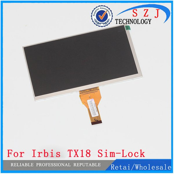 New 7'' inch LCD display For matrix Irbis TX18 Sim-Lock 3G Tablet inner LCD Screen Panel Module Replacement Free Shipping