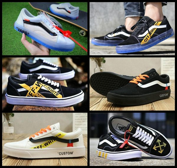 bdccc2b76dc 2018 Fashion Old Skool Women Men Running Shoes Vault Og Style Designer  Casual Canvas Skateboard Sneakers Triple White Trainers Off Shoes Blue  Shoes ...