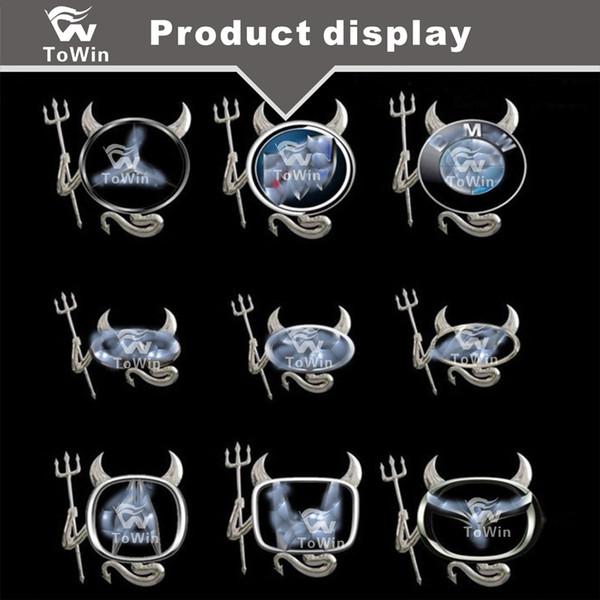 3D Metall Chrome Teufel Stil Dämon Aufkleber Auto Auto Logo Emblem Papier Abzeichen Aufkleber, Autodekoration / Zubehör / Schwarz / Rot / Silber / Gold