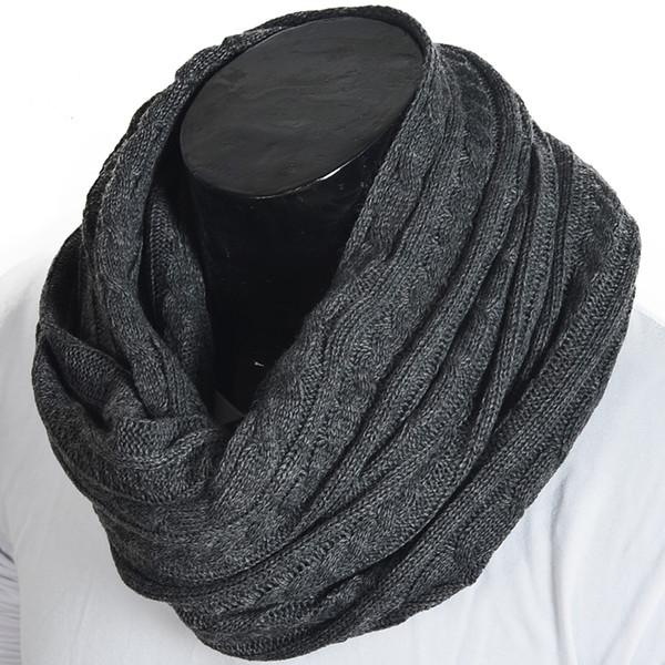 Männer stricken Infinity Schal warme kaltes Wetter Schals Schalldämpfer Halstuch Winter Hals Gamasche FORBUSITE