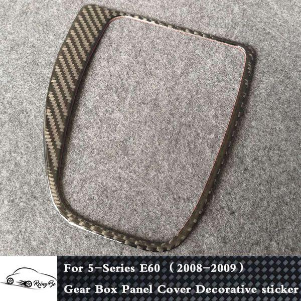 Real Carbon fiber Gear Box Panel Cover Decorative sticker For BMW 5 Series E60