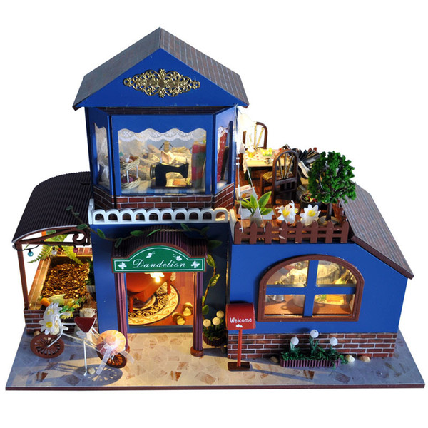 Diy Miniature Wooden Doll House Furniture Kits Toys Handmade Craft Miniature Model Kit DollHouse Toys Gift For Children LTB7