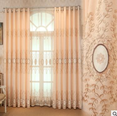 Continental court style high-end villa bedroom Jacquard cloth suede embroidery curtain wholesale can be customized zero cut