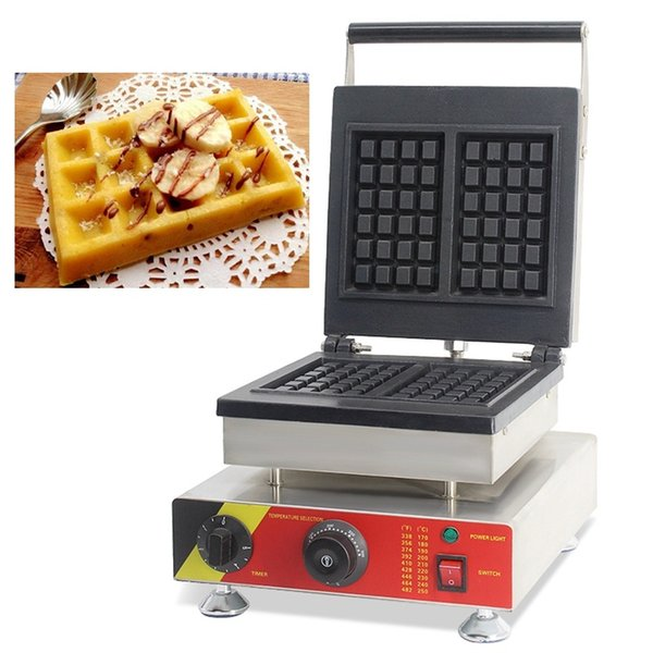 Non-Stick 4pcs Mini Commercial Electric Belgian Brussels Square Shaped Waffle Makers Machines Baker Iron Grill Cooking Pan 220V 110V