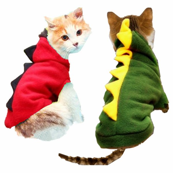 Warm Cat Clothes Pet Dog Costume Suit Halloween Dragon Clothing For Cat Dinosaur Costume Cat Animals Clothes Hoodie Coat Pet Supplier 15S1