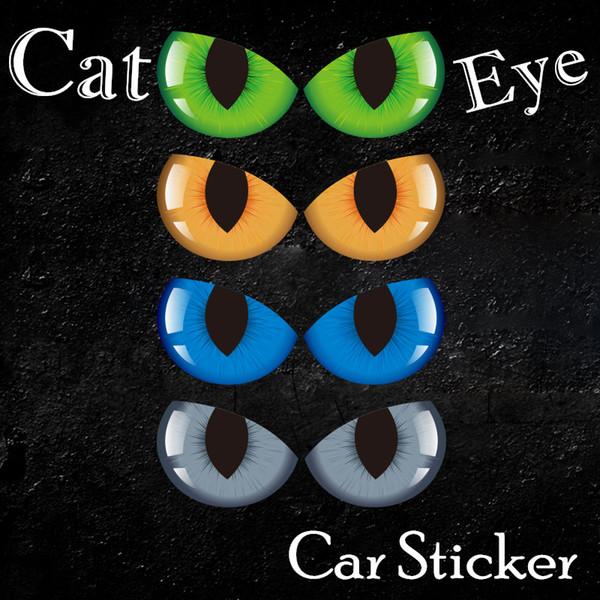 4 Cor Personalidade Cat Eye Sticker para Auto Espelho Retrovisor Do Corpo Janela Traseira Do Vidro 24 * 9 cm Decalques Do Carro
