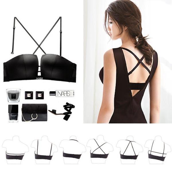wedding dress bra shell strapless underwear beauty back anti slip U type no steel ring seamless big boob bra wholesale