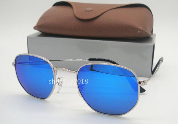 Silver Blue Mirror
