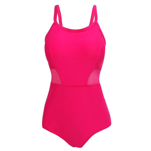 One Piece Swimsuit Women Mesh Style Swimwear Vintage Beachwear Swimsuits Plus Size Swimming Bathing Suit for Women