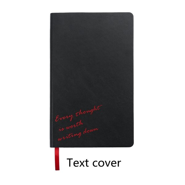 Black With Text 210mm x 130mm