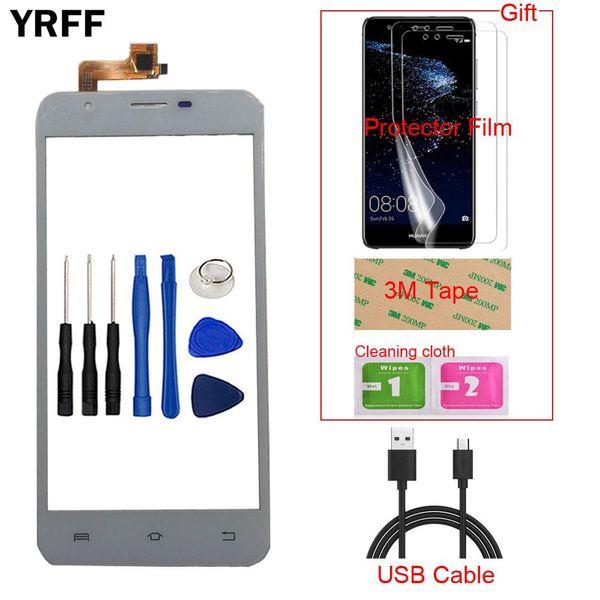 YRFF Mobile Touch Screen For BQ BQS-5505 BQS 5505 Touchscreen Touch Screen Digitizer Panel Sensor Front Glass Lens Tools Gift