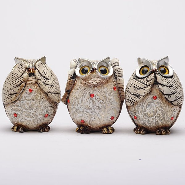 Nordic style home accessories ornaments owl decorations retro nostalgia living room crafts