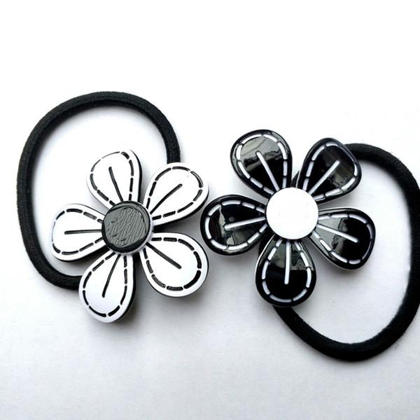 Новый южнокорейский Камелия акриловые CC сливы цветок головы веревка волос веревка кожаный ремешок шпилька головные уборы модные аксессуары для счетчик подарки