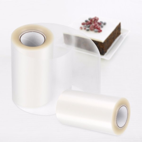Transparent Clear Mousse Surrounding Edge Wrapping Tape For Baking Cake Collar Roll Packaging DIYDecorating Tools