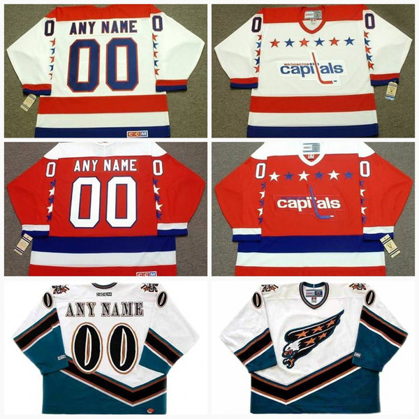Washington Capitals Jersey Mens Customized with any name   number Vintage  CCM Old Hockey Jerseys Goalie Cut Personalized All Stiched Cheap 1ae20b4c2102