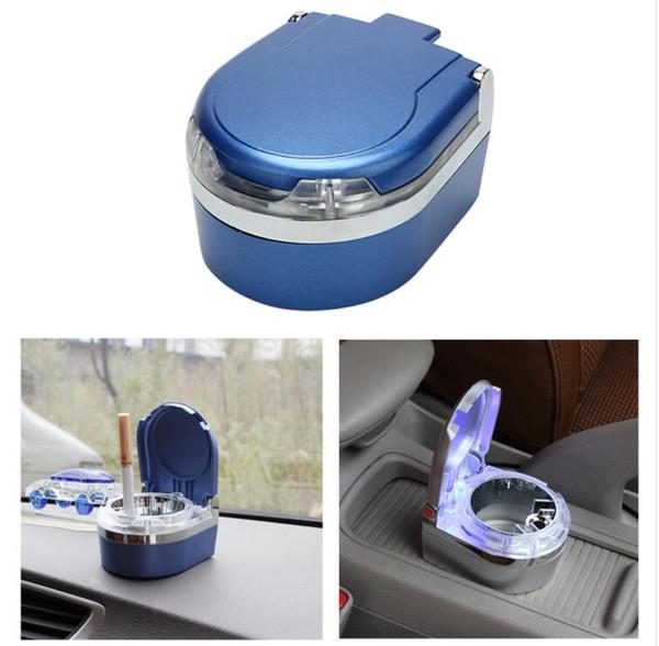 Car Styling LED Car Ashtray Storage Cup Smoke Ash Cylinder Car Accessories Cigar Ash Tray Interior Accessories