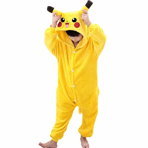 New Baby Boys Girls Pajamas Autumn Winter Children Flannel Animal funny animal Stitch cosplay costume Kid Onesie Sleepwear