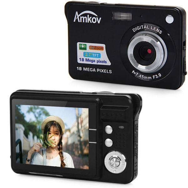 Amkov CDC3 2.7 Inch TFT Screen 18.0MP CMOS 5.0MP Anti-shake Digital Video Camera with 8X Digital Zoom