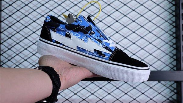 REVENGE X STORM II VOL.1 LOW TOP BLUE CAMO BLACK PLAID RXSTRMLT ... c970cba60