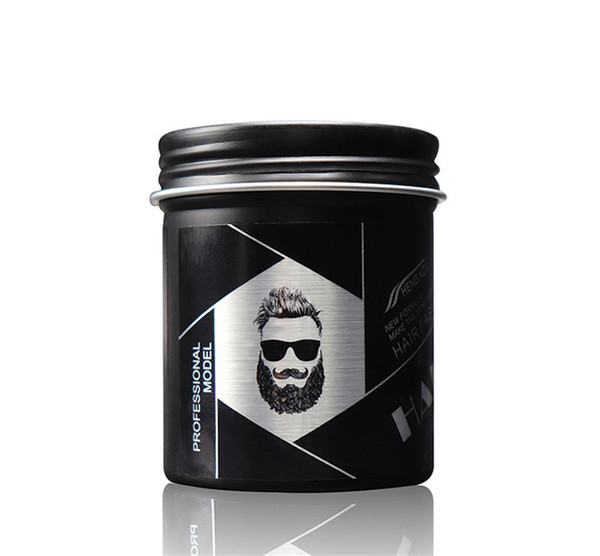 top popular 100g Black Hair Clay Wax Stereotypes Fluffy Men and Women Waxes Strong Style Restoring Pomade Hairs Gel Tools 10pcs 2021