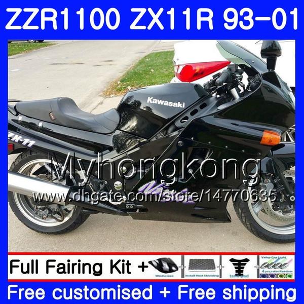 Cuerpo para KAWASAKI NINJA ZX 11R ZX11R 93 94 95 96 97 206HM.3 ZZR 1100 ZX11 R ZZR1100 ZX-11R 1993 1994 1995 1996 1997 Stock carenados