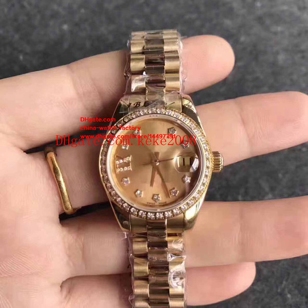 8 Style Luxury Top Quality Ladies 26mm Datejust President Two Tone Gold Diamond Dial Swiss ETA 2824 Movement Automatic Watch Women's Watches