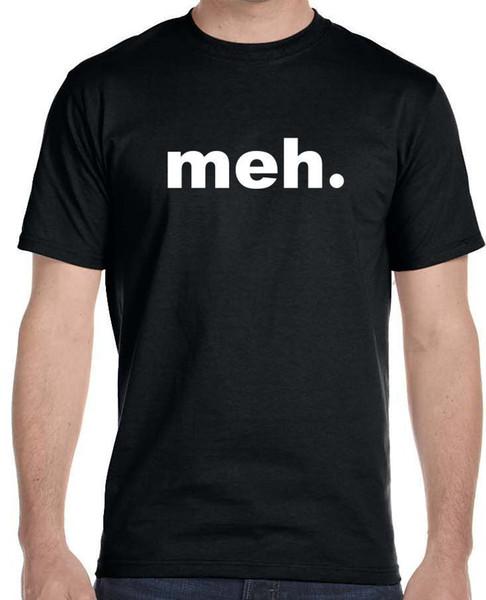 8b88e67a3 Sleeves Cotton T-Shirt Fashion Meh T-shirt - Funny Humor Gamer Geek Tee