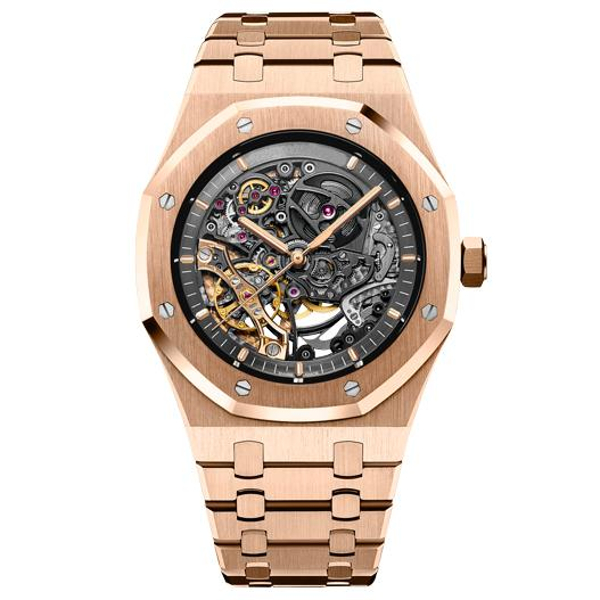 Top luxury automatic mechanical mens watch 15407 diver sports steel belt male brand hollow watch quartz diving watch