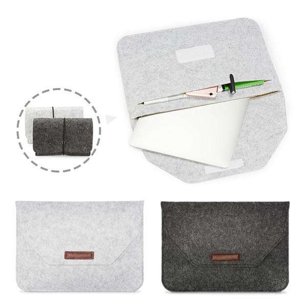 Macbook Hava / Pro Retina tam serisi Laptop için Keçe Çanta Yeni Kumaş Tam Koruyucu Laptop Kapak