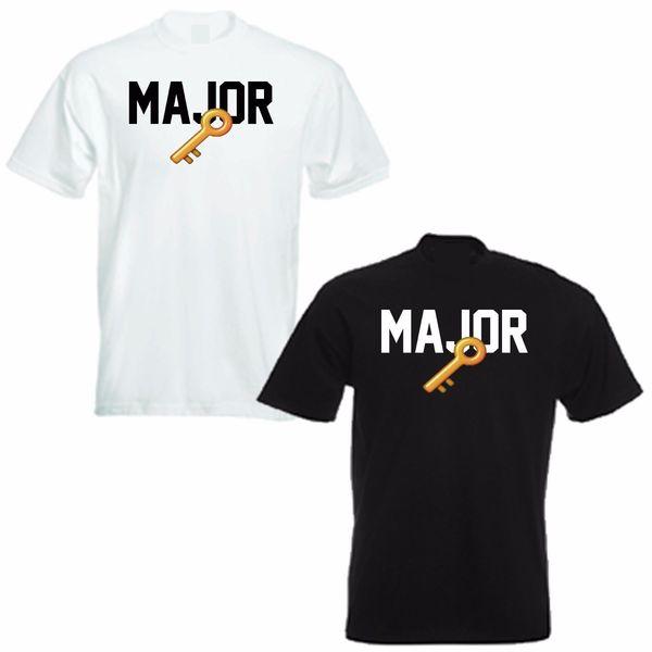 DJ KHALED MAKOR CHAVE EMOJI T SHIRT Hip hop homens camiseta rocha Unisex t Moda Tops de Verão Legal Tees