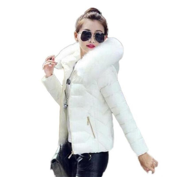 2018 Newest Parkas For Women Winter Coats Faux Fur Collar Hooded Cotton Slim Warm Jacket Womens Winter Jackets And Coats S18101501